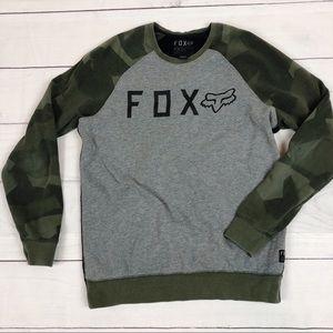 FOX Racing Mens Camo Crew Neck Sweatshirt Size Med